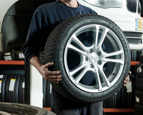 Montering af hjul